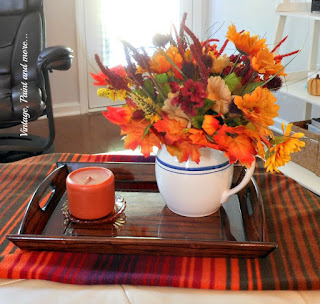 Vintage, Paint and more... simple Fall vignette done with t vintage pitcher