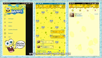 BBM Mod Spongbob Squarepants Themes New V.2.12.0.9 Apk