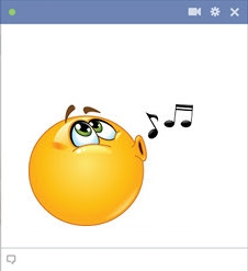 emoticon Facebook bernyanyi