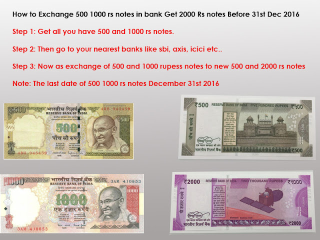 There is no trick to exchange 500 2000 rs notes for new 500 rs 2000 rs