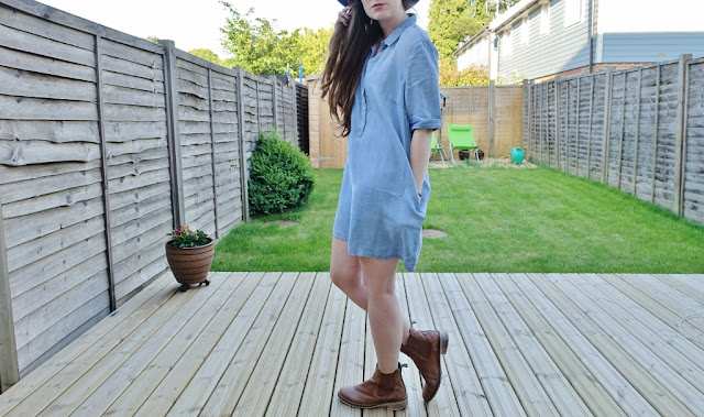 anita and green denim dress