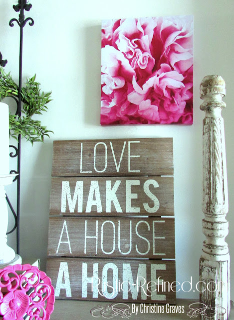 Spring Decor 2016 for the home. Rustic and farmhouse touches