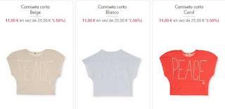 camisetas cortas para ninas