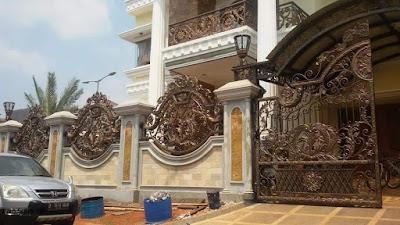 motif pagar untuk rumah mewah