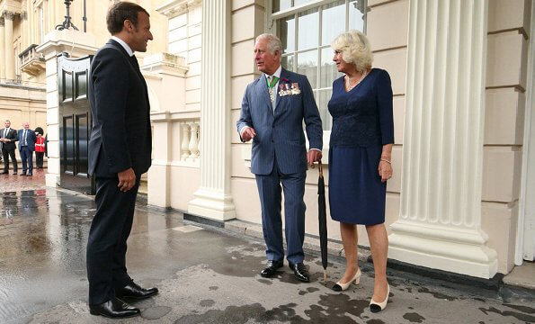 The Prince of Wales and The Duchess of Cornwall have formally received French President Emmanuel Macron at Clarence House