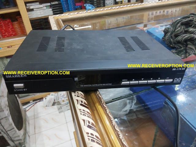 SHAHEEN SR-170 HD RECEIVER POWER KEY NEW SOFTWARE