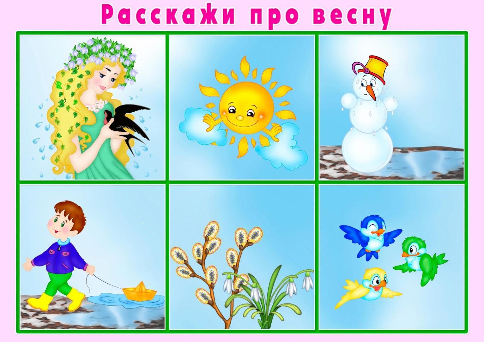 Рассказы в картинках про весну
