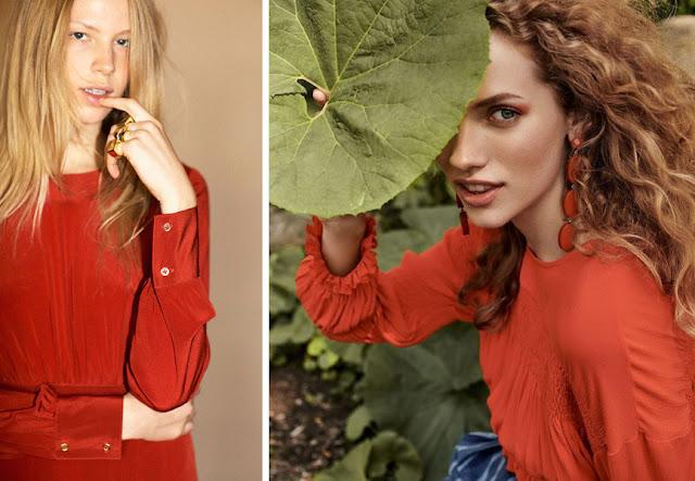 Платья теплых оттенков красного