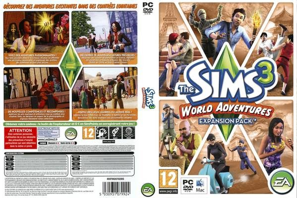 pc games cd cover the sims 3 world adventures