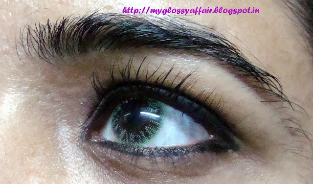 Aryan 1 tone Colored Contact Lenses in Green
