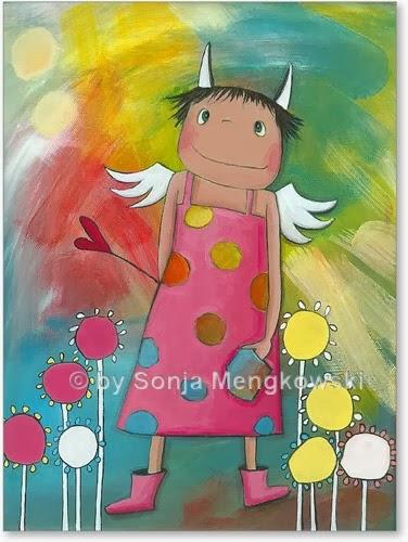 Kinderzimmer Bild: Schutzengel Holly