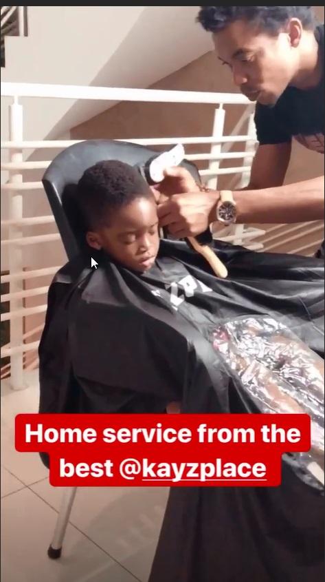 Jamil Balogun Gets VIP treatment form Kayzplace Barbershop