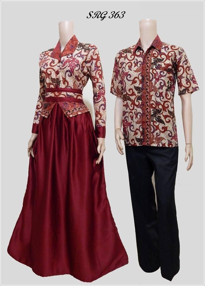 Baju Batik Couple Model Gamis Terbaru Srg 363