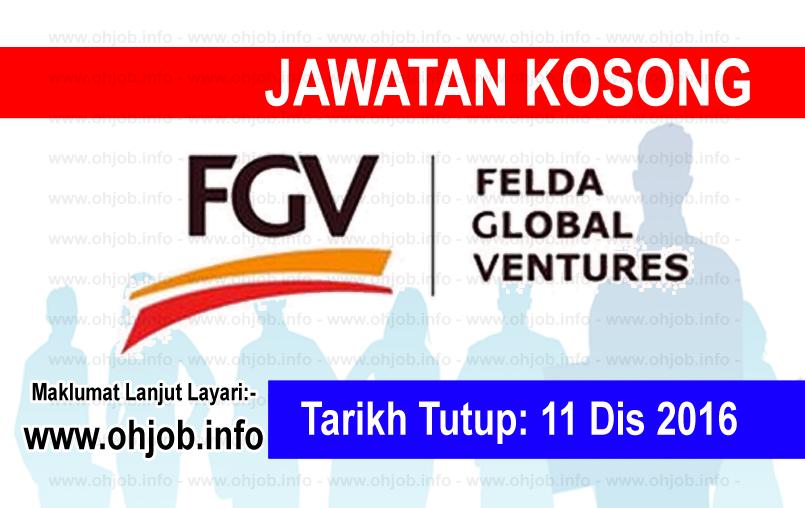 Jawatan Kerja Kosong Felda Global Ventures (FGV) logo www.ohjob.info disember 2016
