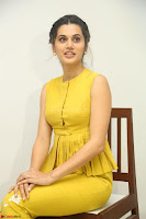Taapsee Pannu looks mesmerizing in Yellow for her Telugu Movie Anando hma motion poster launch ~  Exclusive 014.JPG