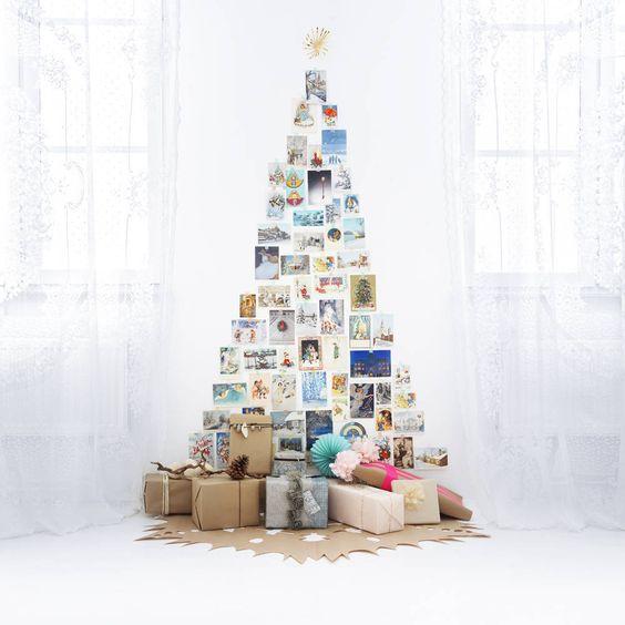 Bonito Árbol de Navidad  compuesto por fotos y postales