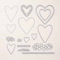 Stampin'UP!'s Be Mine Stitched Framelits Dies