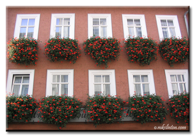 10 gorgeous flower boxes on German building