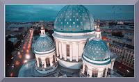 Saint Petersbourg Moscou sous la neige filmé drone