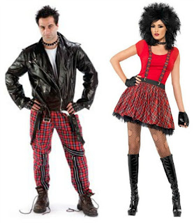 80s Punk Man and Woman