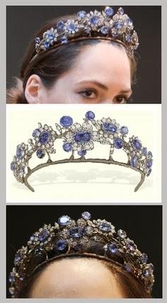 Toptenfashionnew Blue Diamond Tiara Crown