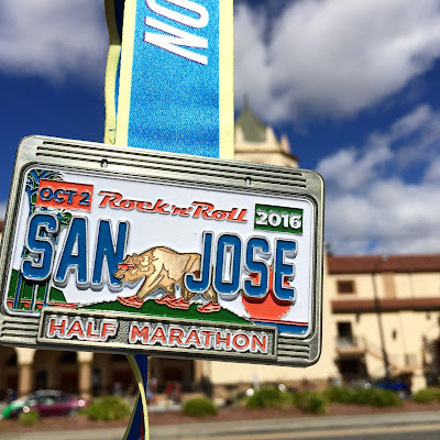 Rock 'n' Roll San Jose Half Marathon medal 2016