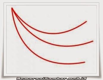 Gambar 1 Belajar Menggambar Buah Pisang