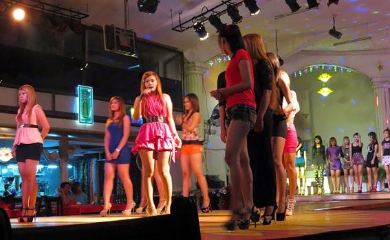 Yangon nightclub show at Power Light with pretty Burmese Girls