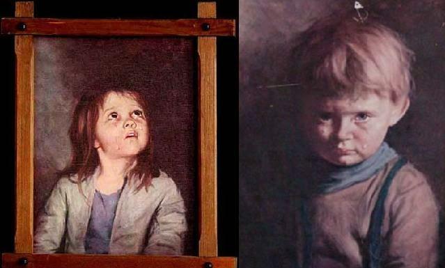 Um caso assustador, dois quadros assombrados por entidades e espiritos malignos