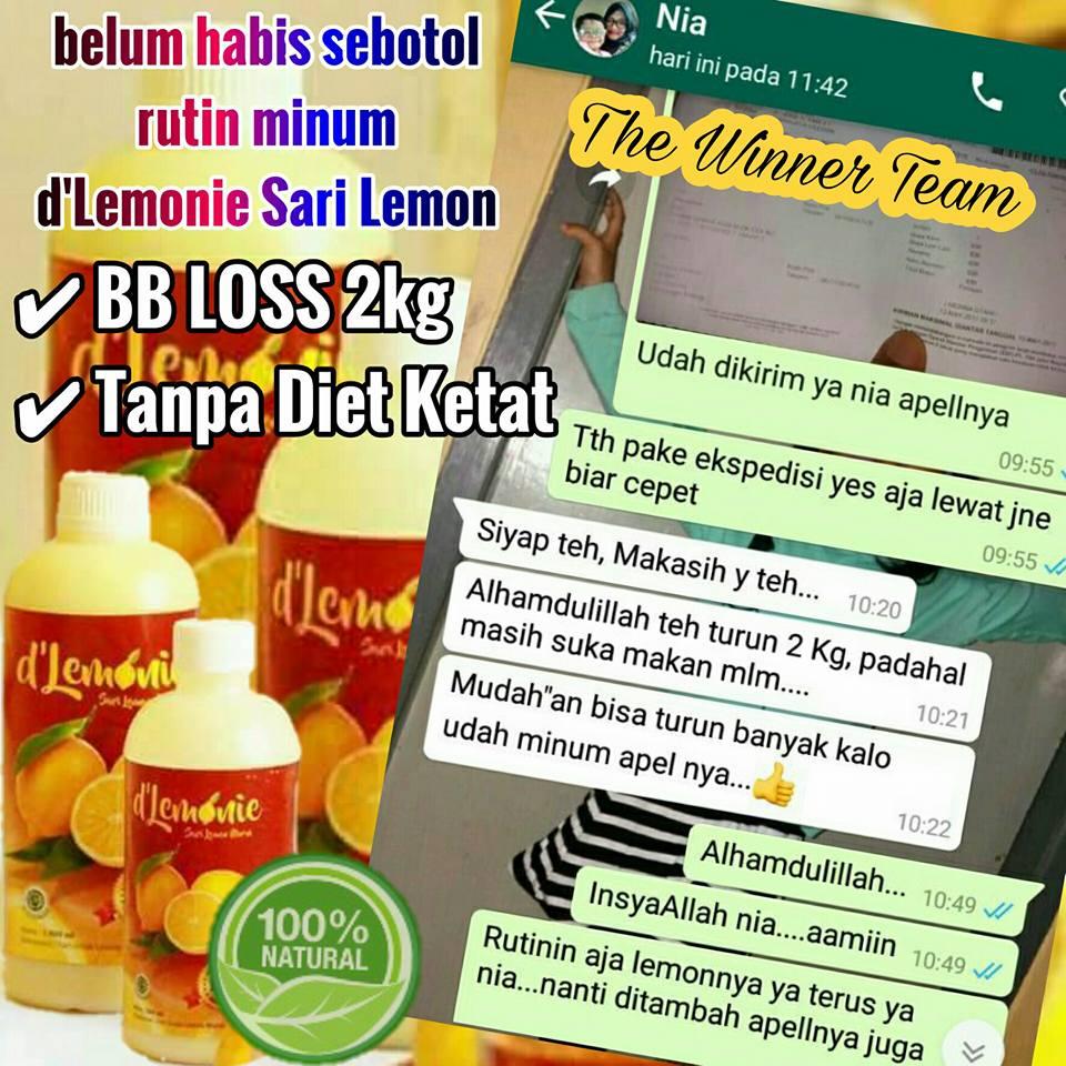 sari lemon untuk turunkan bb