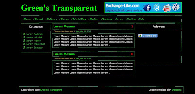 Download Green Blogger Template