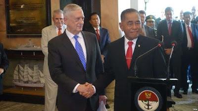 Menteri Pertahanan RI dan AS Bahas Penanggulangan Terorisme