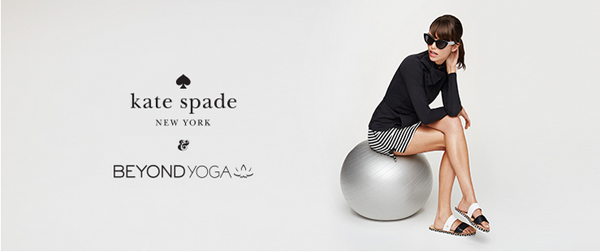 Kate Spade, Beyond Yoga, activewear, yoga wear, yoga clothes, stripes
