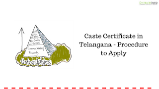 Caste Certificate in Telangana - Procedure to Apply