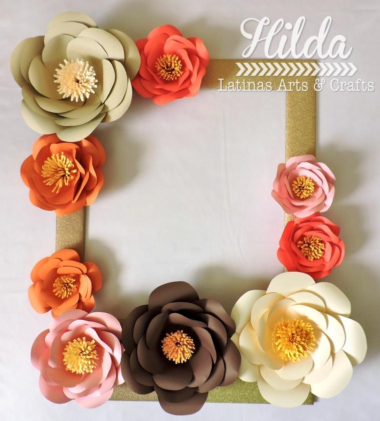 Hilda Designs: CROP: Marco con flores