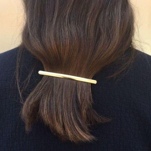 Minimal gold hair clip