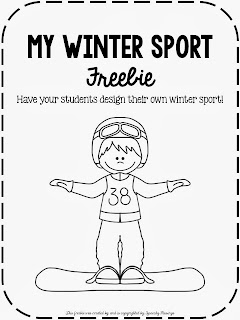 Speechie Freebies: Design Your Own Winter Sport Freebie