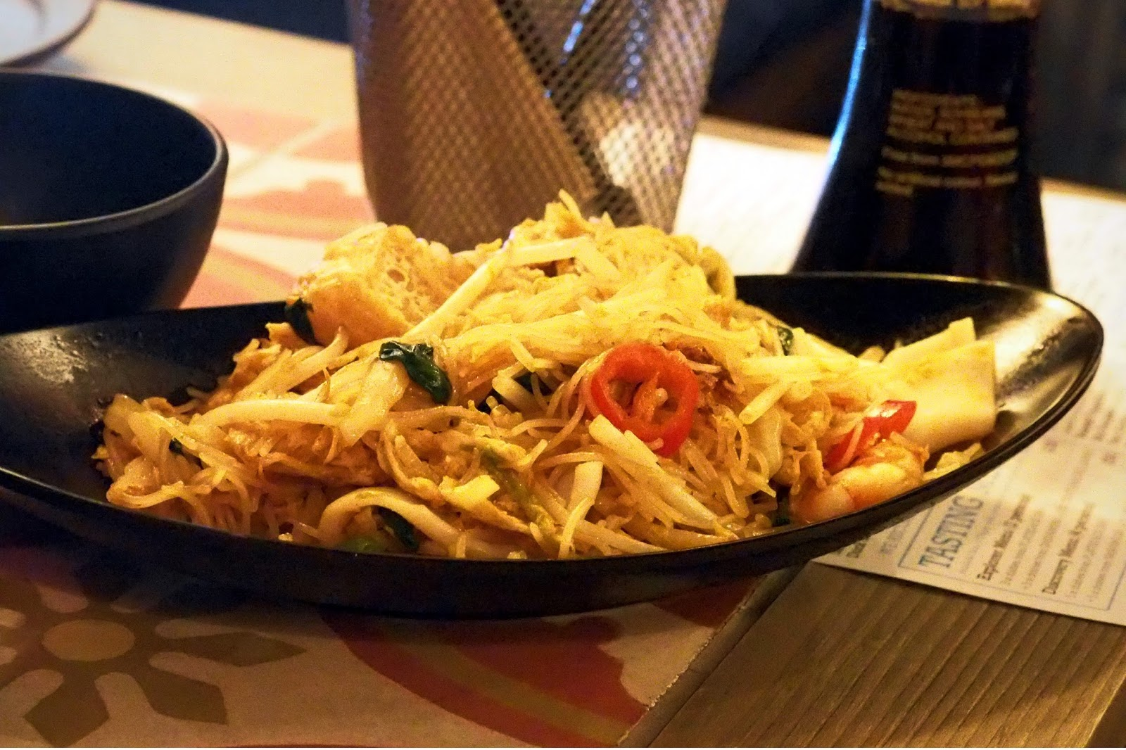 stirfried noodles in a bowl