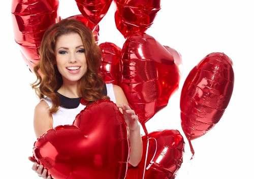 Balões de Coração Metalizados - Dia Internacional da Mulher
