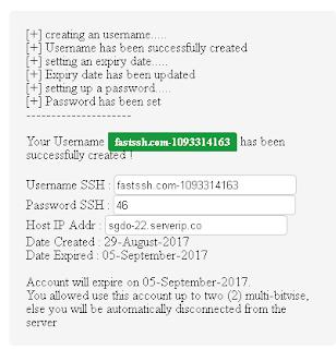 Akun Premium SSH Server Singapore DO 22