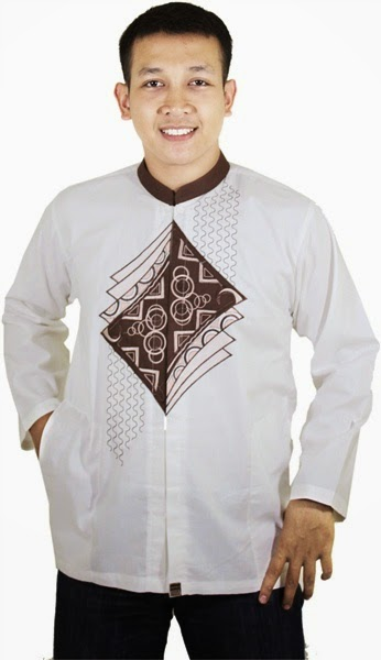 Contoh Baju Muslim Pria warna putih