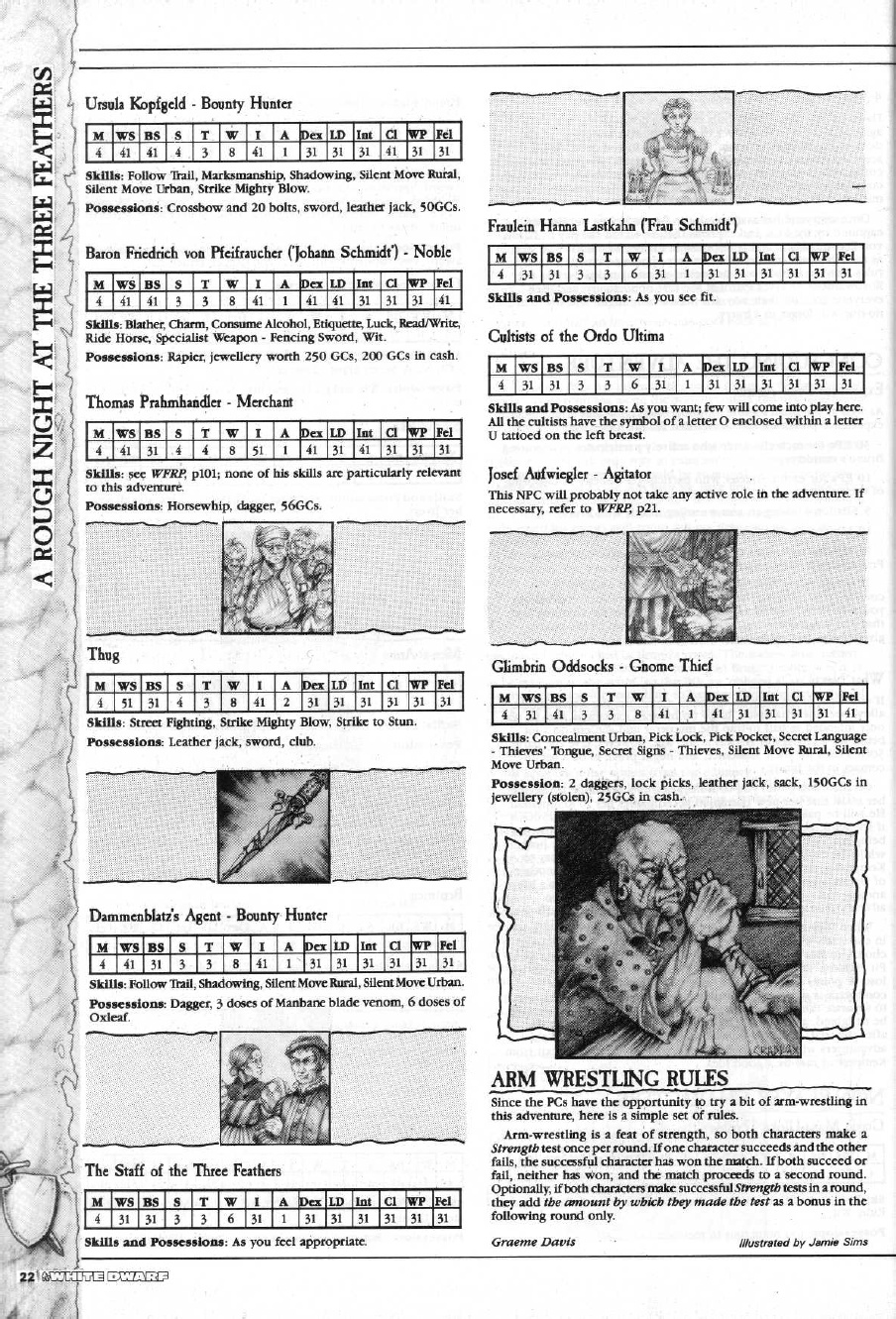 Realm of Chaos 80s: WFRP'd: A Rough Night at the Three Feathers