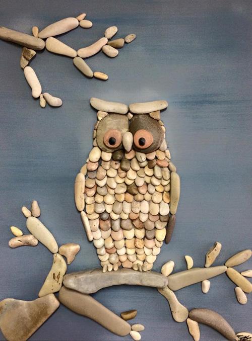 my owl barn stone art by stefano furlani