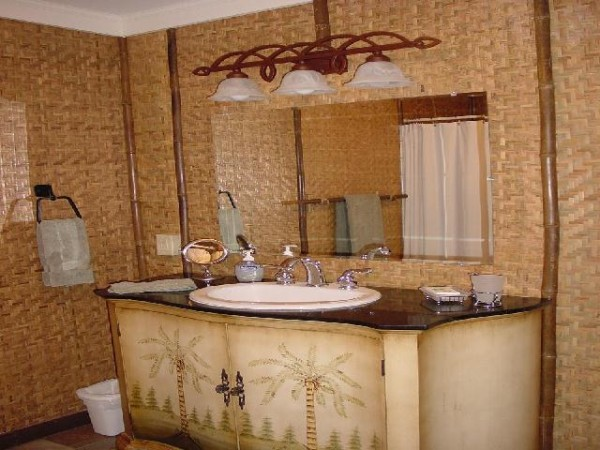 Bamboo Bathroom Furniture Accent Interior Design