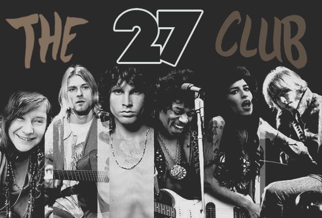 Kutukan Club 27 dimana artis yang bergabung didalam tewas dalam usia 27 tahun