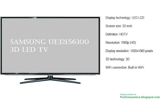 Samsung UE32ES6300 3D LED TV specs and review