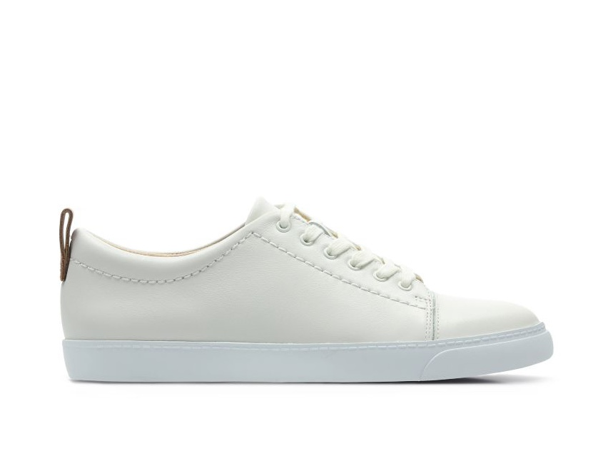 clarks glove echo white leather
