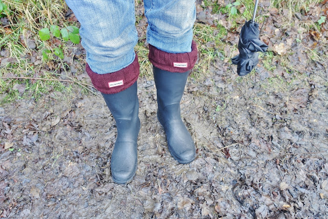 Barbour wellies with hunter welly socks