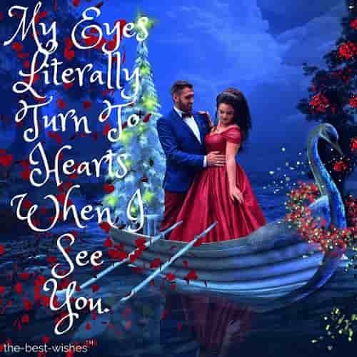 romantic couple in boat