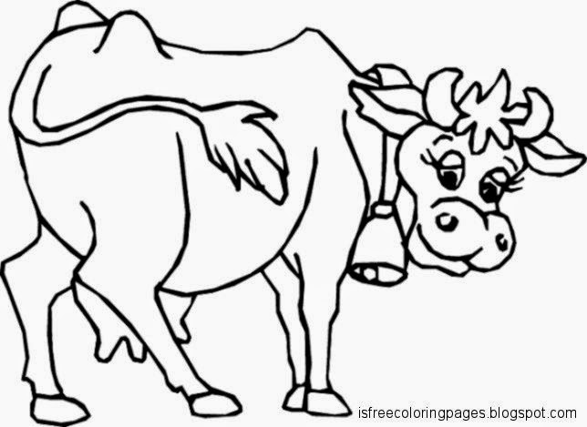 Cows Coloring Pages Free